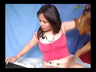 Amateur Webcam Lady And Dog 1 (part 3)
