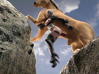 2b Riding A Horse (likkez)[horse]3D Bestiality