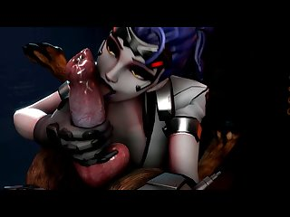 Widowmaker Working A Doggy Cock (santalol)[dog Wolf]3D Bestiality