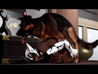 Symmetra And Doggy[dog Wolf]3D Bestiality